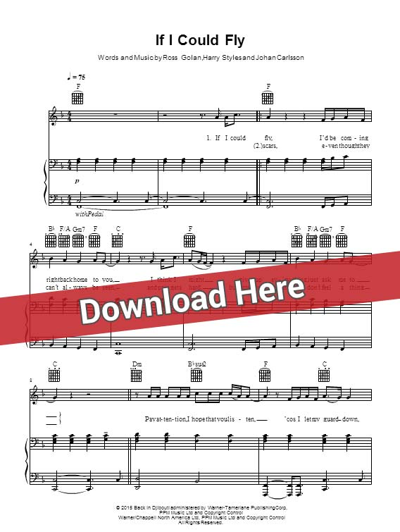 one direction, if i could fly, chords, sheet music, piano notes, score, download, keyboard, guitar, tabs, klavier noten, partition, how to play, learn, saxophone, guitar, bass, violin, flute